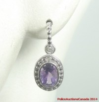 Police Auctions Canada - 925 Sterling Amethyst Dangle ...