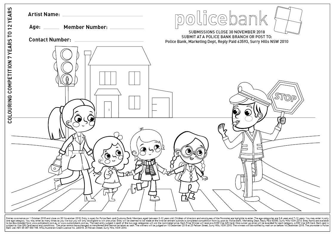 Police Bank | 2018 Dynamo Colouring in Competition