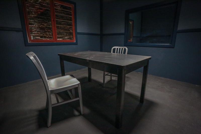Police Station Standing Set in Los Angeles  Interrogation