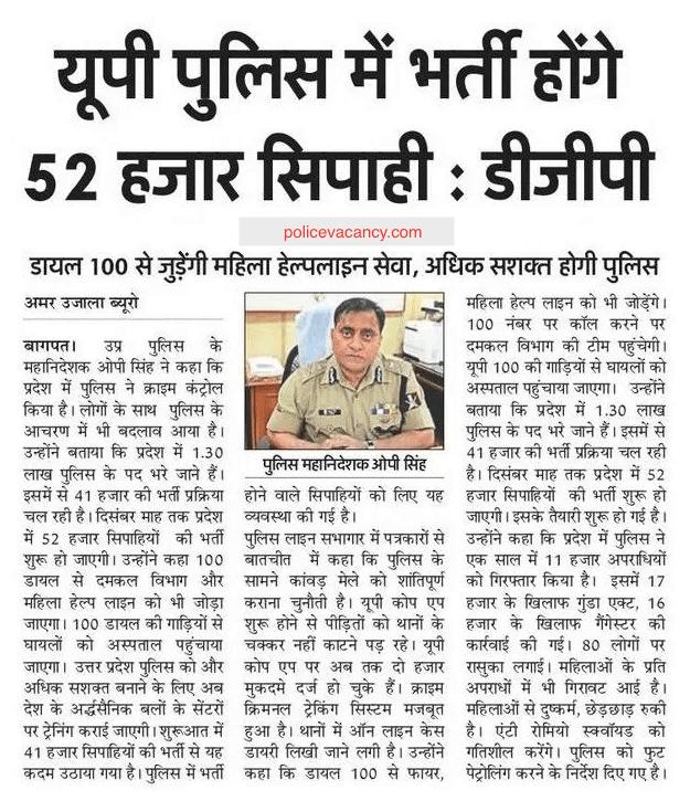 UP Police Vacancy 2020