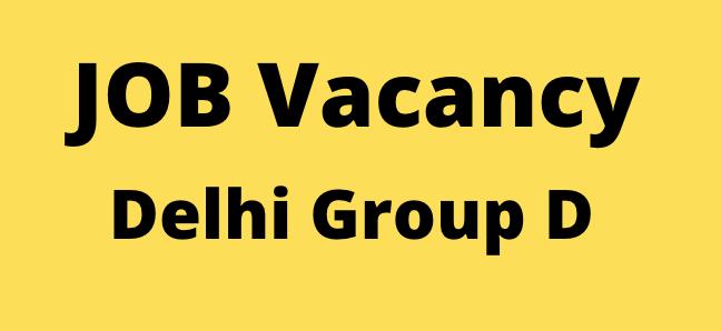 Delhi Group d Bharti 2020