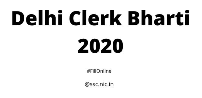 Delhi Clerk Bharti 2020