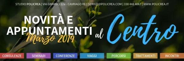 Novità e appuntamenti – Marzo 2019