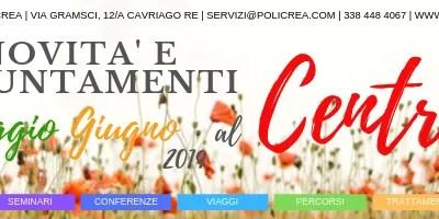 Novità e appuntamenti – Maggio-Giugno 2019