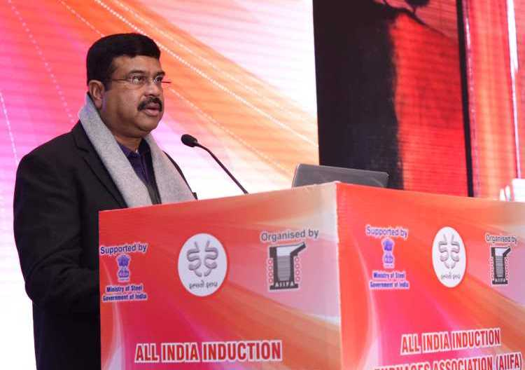 Dharmendra Pradhan asks steel industry to export more.