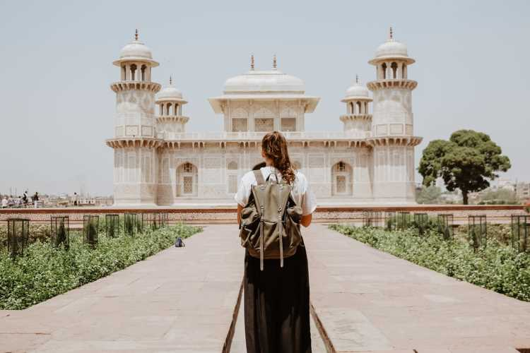 Foreign tourist in Agra