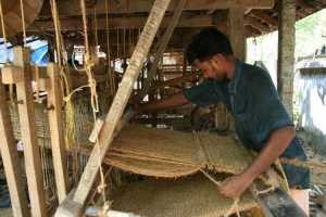 Indian handloom worker