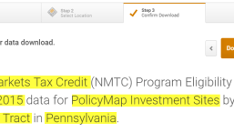 Points with Layers – New Markets Tax Credits