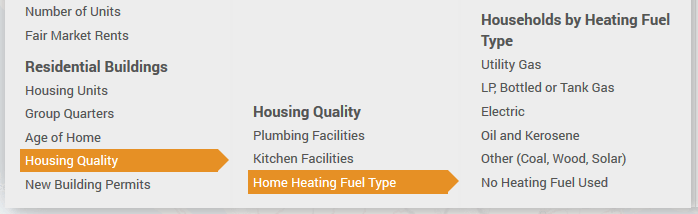 New Home Heating Fuel location