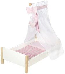 Κρεβατάκι κούκλας Sylvia (Μήκος: 30 Βάθος: 52 Ύψος: 60)