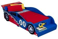 Κρεβάτι KidKraft Racecar Toddler (Μήκος: 75 Βάθος: 190 Ύψος: 45)