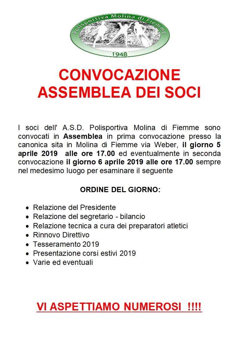 ASSEMBLEA DEI SOCI - APRILE 2019