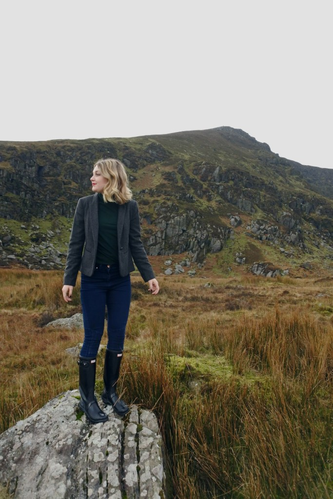 Hunter boots in the mountains of Ireland