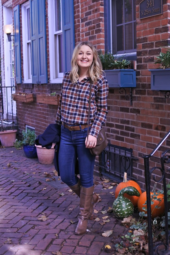 The perfect autumnal-colored flannel shirt