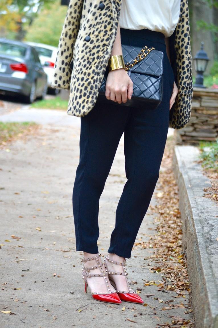 Valentino Rockstuds and Chanel Handbag