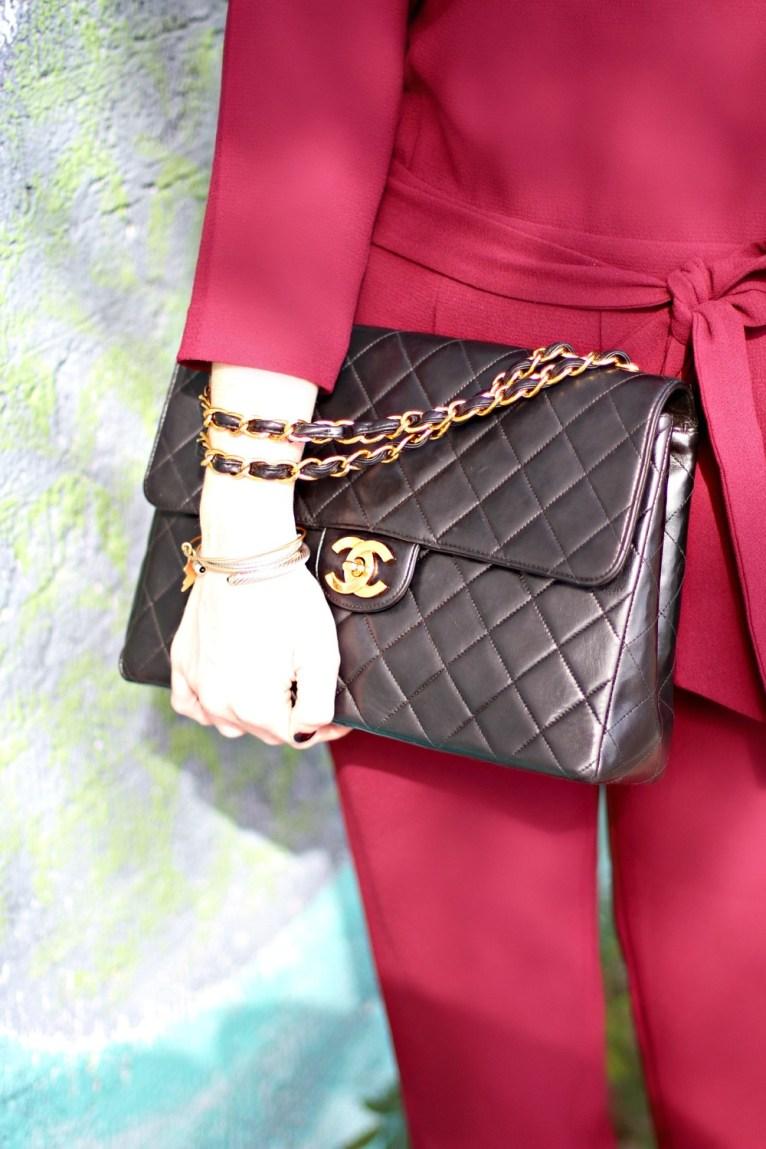 black chanel handbag