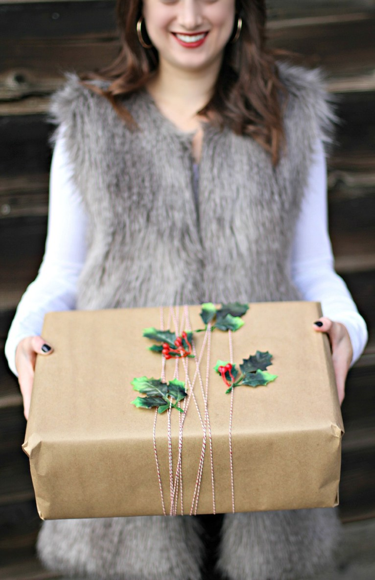 Rustic DIY Wrapping paper