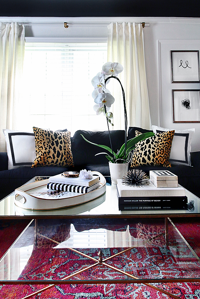 black and white coffee table inspiration