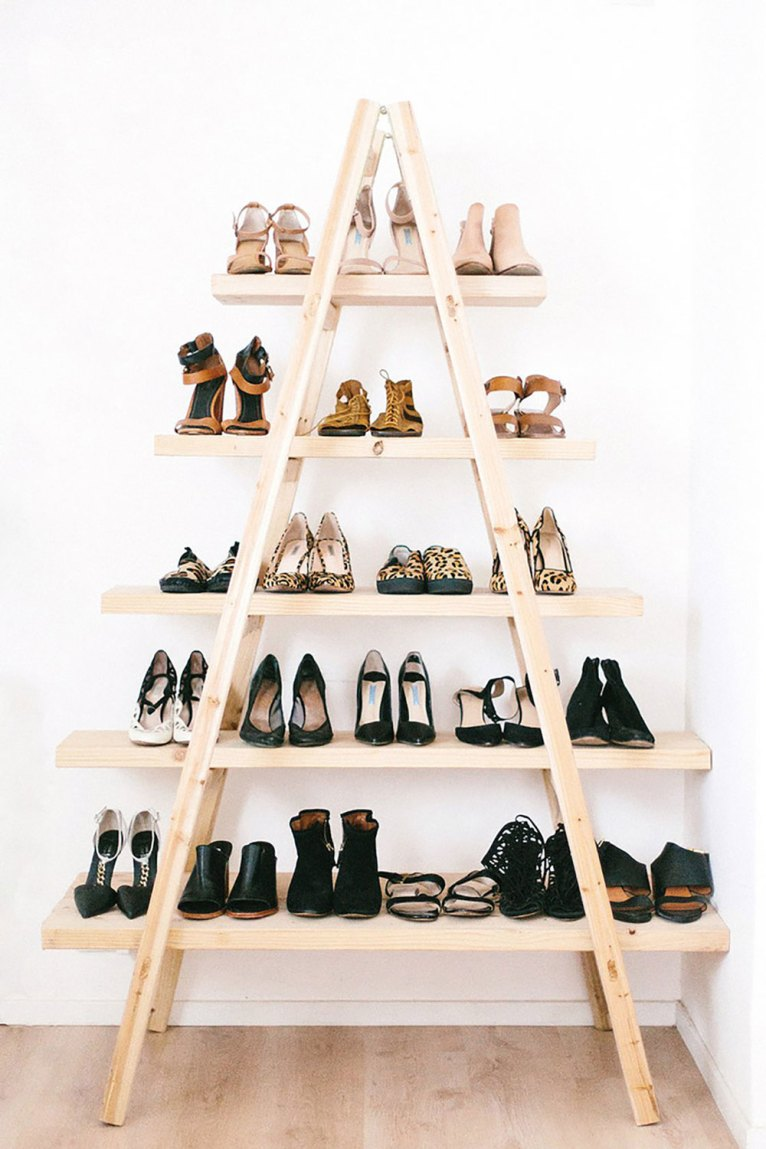 Shoes on a ladder