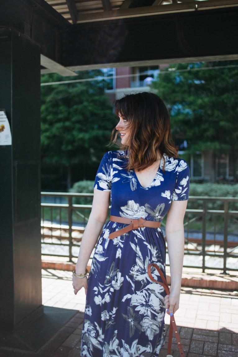 ASOS Floral Maxi Dress || PolishedClosets.com
