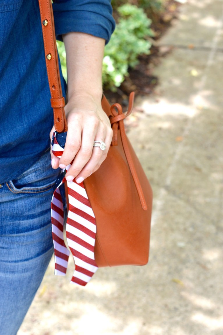 striped purse scarf