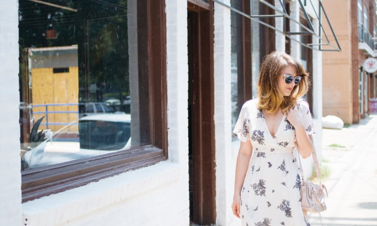 Neutral Floral Dress