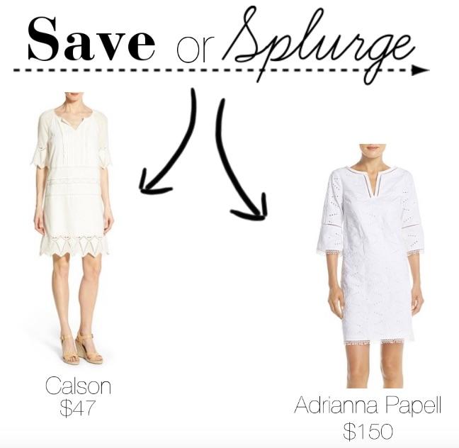 White Shift Dress || Save or Splurge || @polishedclosets