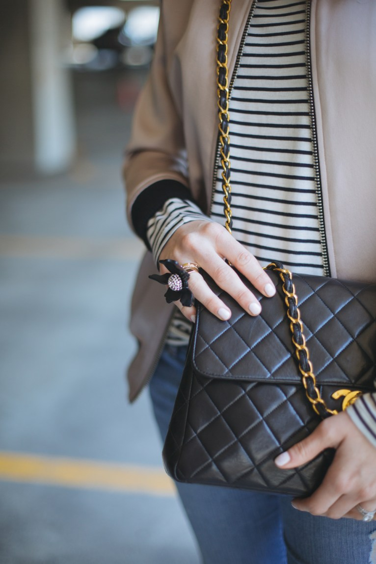Vintage Black Chanel || @polishedclosets