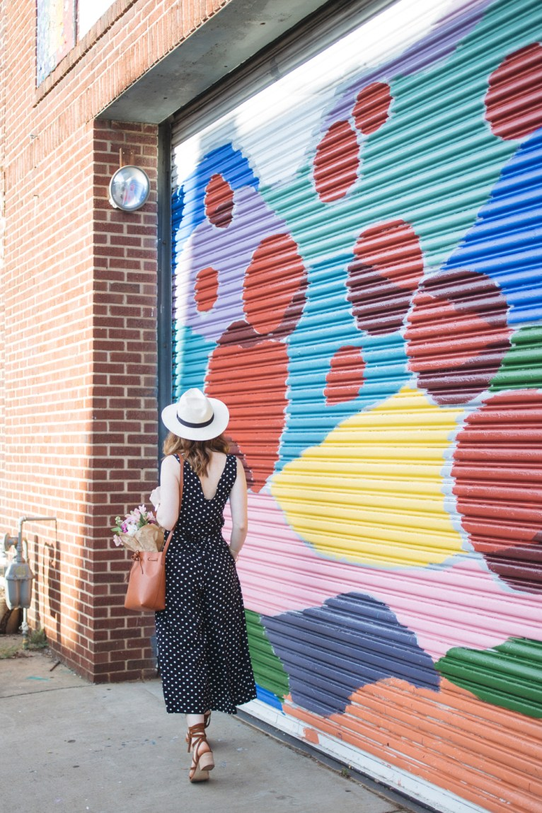 Culotte Jumpsuit and panama hat || @polishedclosets