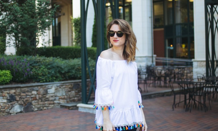 Transition your Off-the-Shoulder Top to Fall