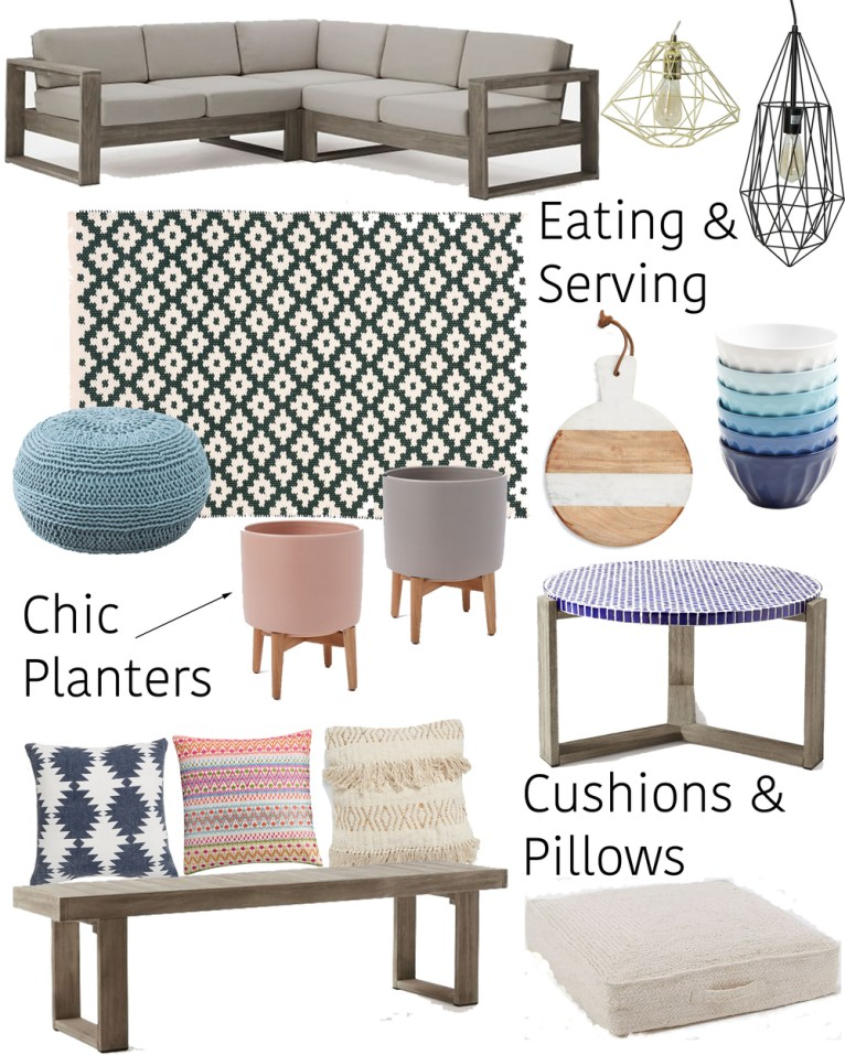 the perfect patio accessories for summer || www.polishedclosets.com