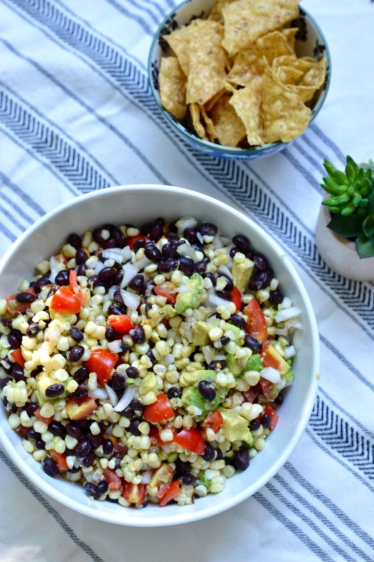Grilled Corn Salad || www.polishedclosets.com