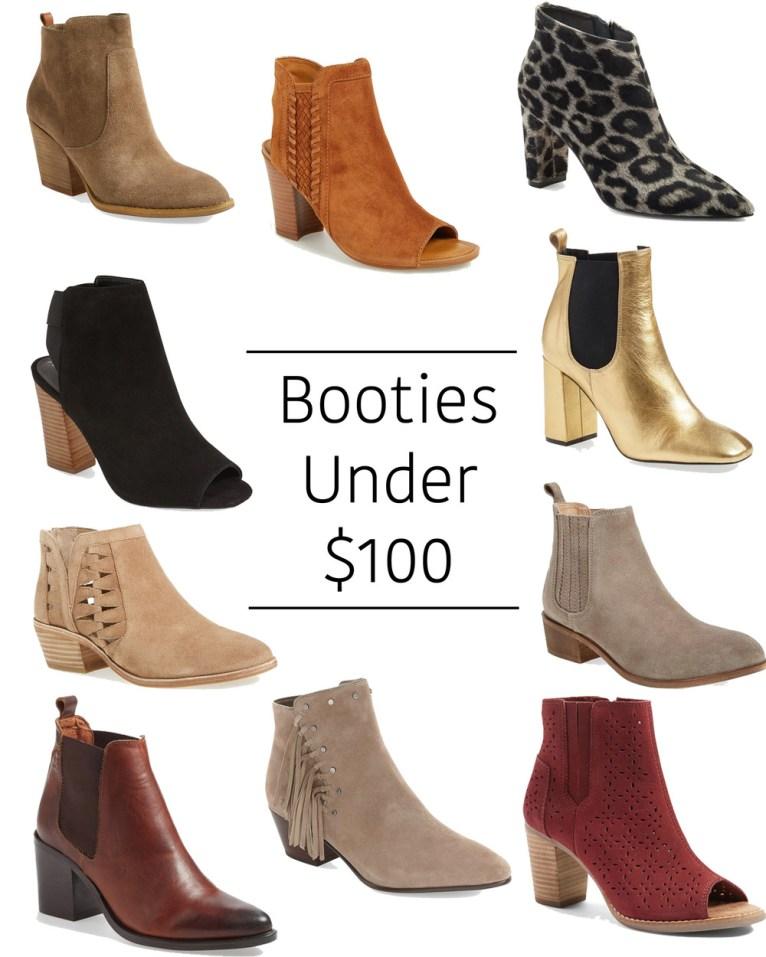 booties under $100