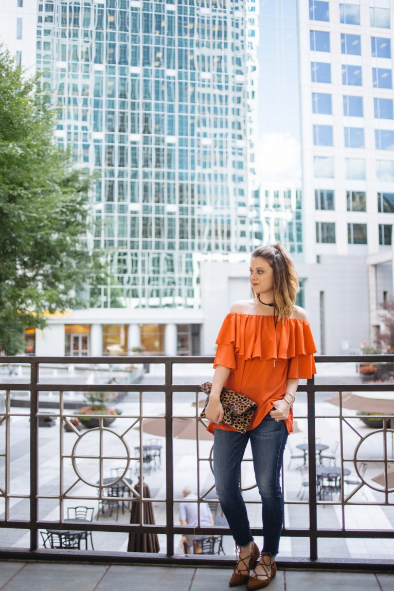 Chicwish Ruffle Off the Shoulder Top // www.polishedclosets.com