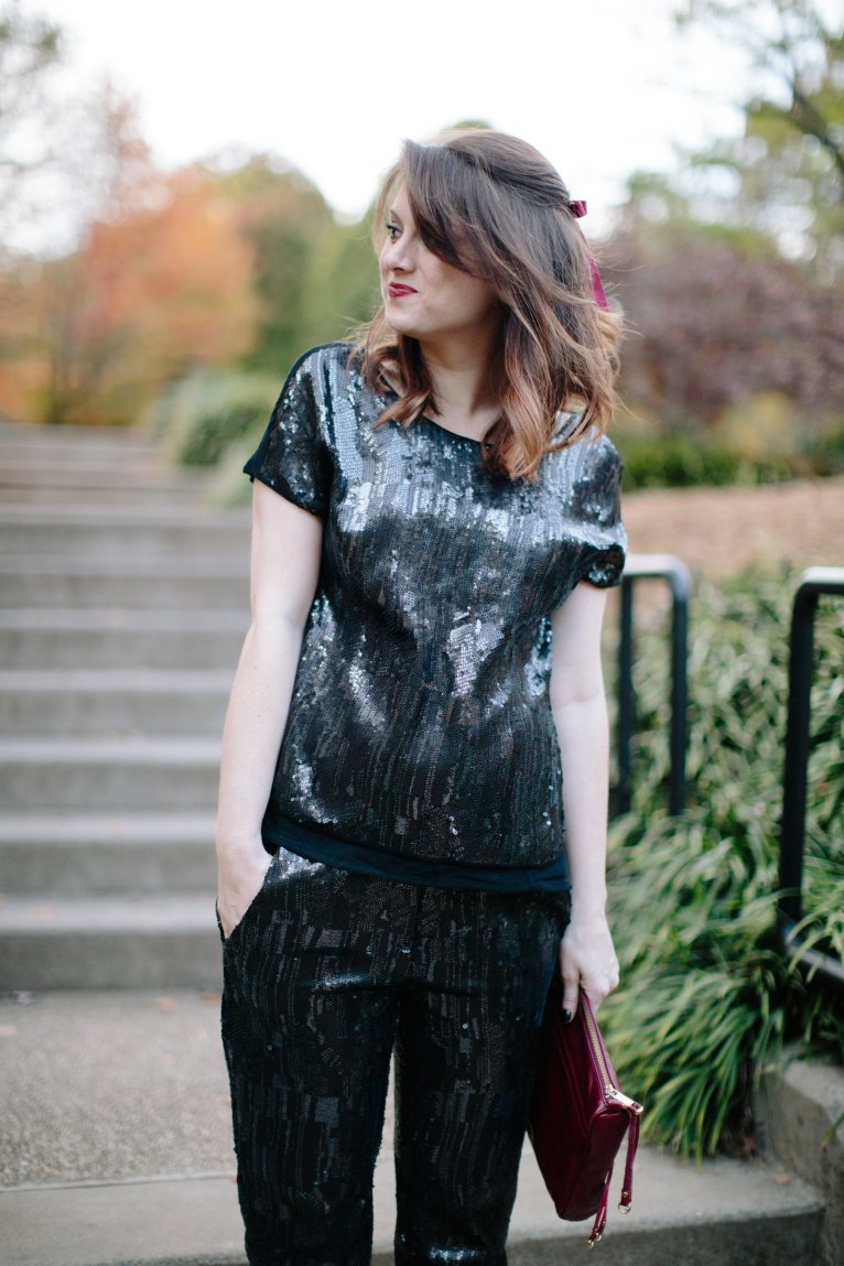 Sequin Outfit for Winter