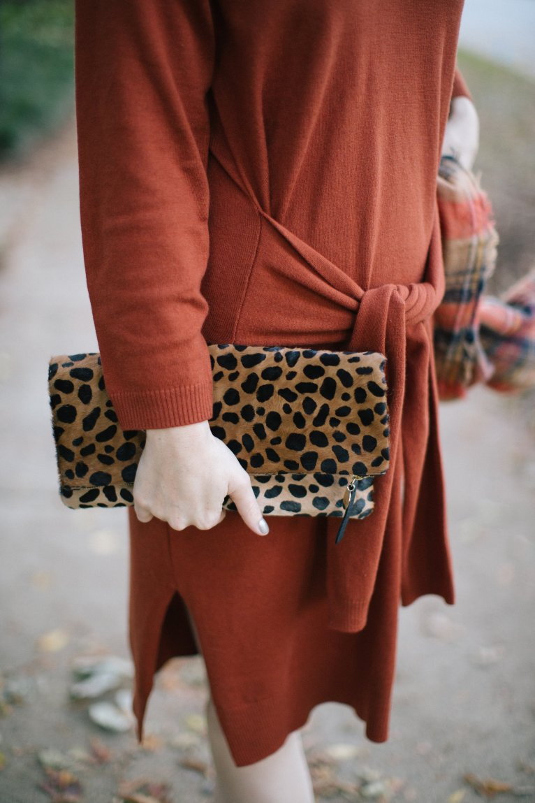 Clare V Leopard Foldover Clutch