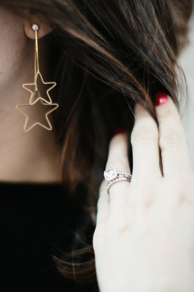 Star Earrings // www.polishedclosets.com