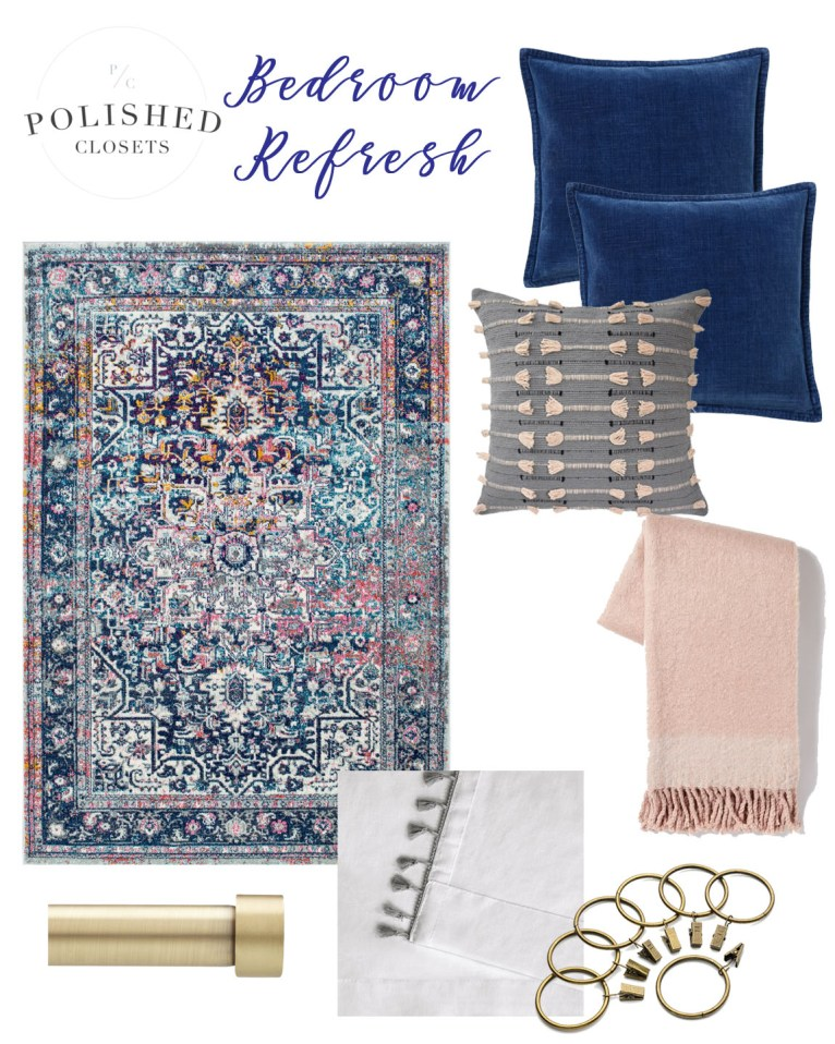 how to update your bedroom on the cheap // www.polishedclosets.com