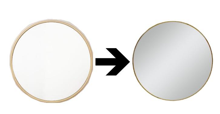 round gold mirror // www.polishedclosets.com
