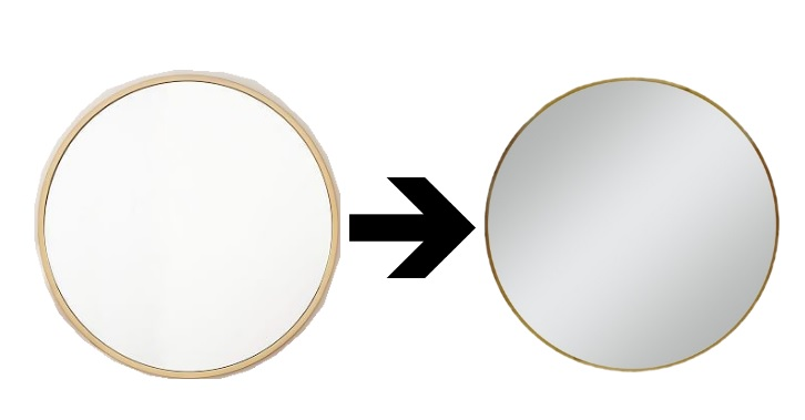 round gold mirror // www.polishedclosets.com