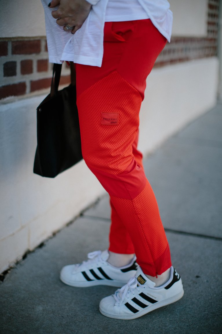 How to Style Adidas Track Pants by fashion blogger Maggie from Polished Closets