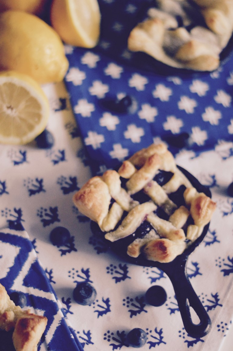 Delicious Mini Blueberry Lemon Pie Recipe by Polished Closets