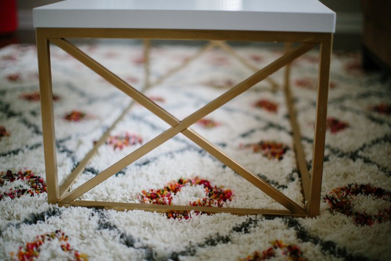 DIY White Coffee Table With a Designer Feel by lifestyle blogger Maggie of Polished Closets