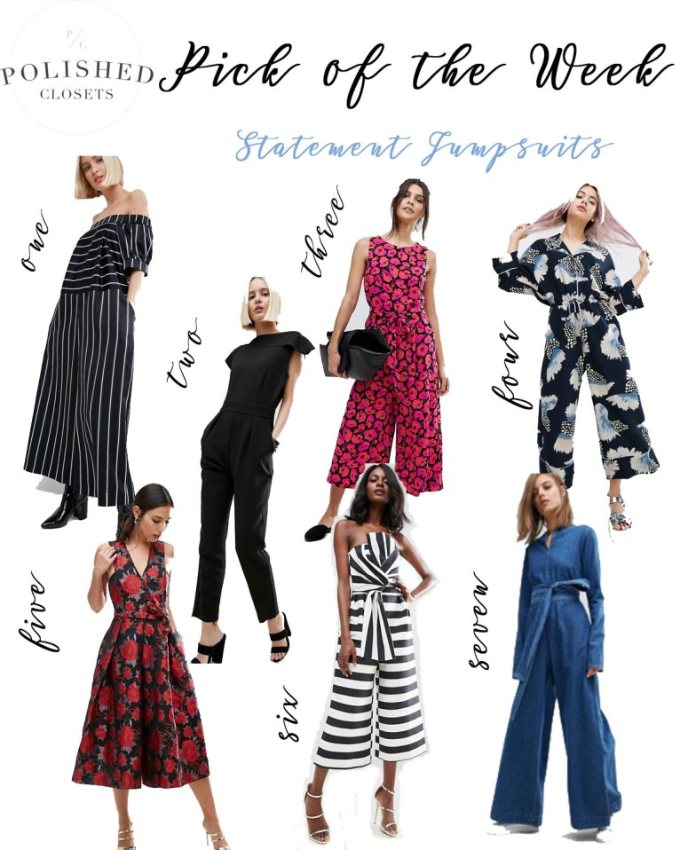 Pick of the Week: My Top 7 Womens Jumpsuits by Polished Closets