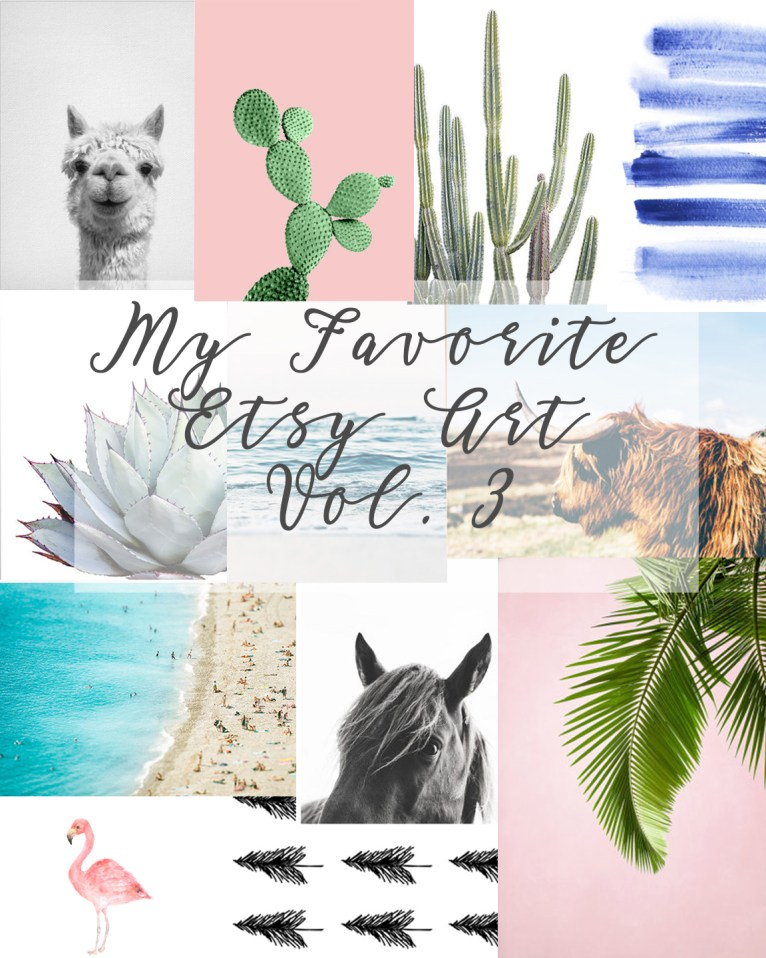 My Favorite Etsy Artwork, Vol. 3 by lifestyle blogger Maggie of Polished Closets