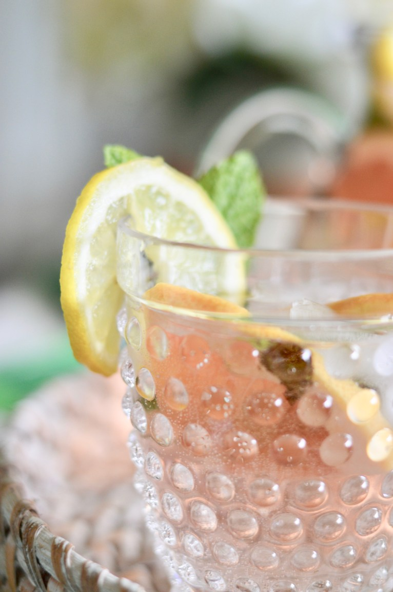 Refreshing Rose Spritzer by lifestyle blogger Maggie of Polished Closets
