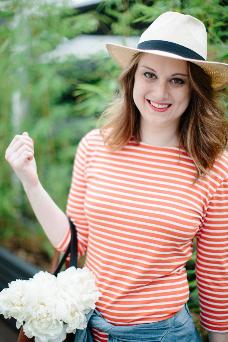 Casual Mom Style With A Striped Casual Dress and How to Take Care of Yourself by fashion blogger Maggie of Polished Closets