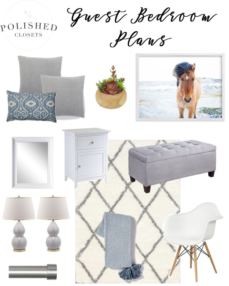 Home Decor: Guest Room Ideas by lifestyle blogger Maggie of Polished Closets