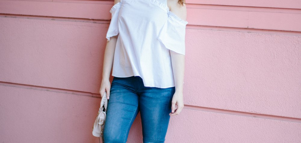 A Must-Have Top: The White Cold Shoulder Blouse