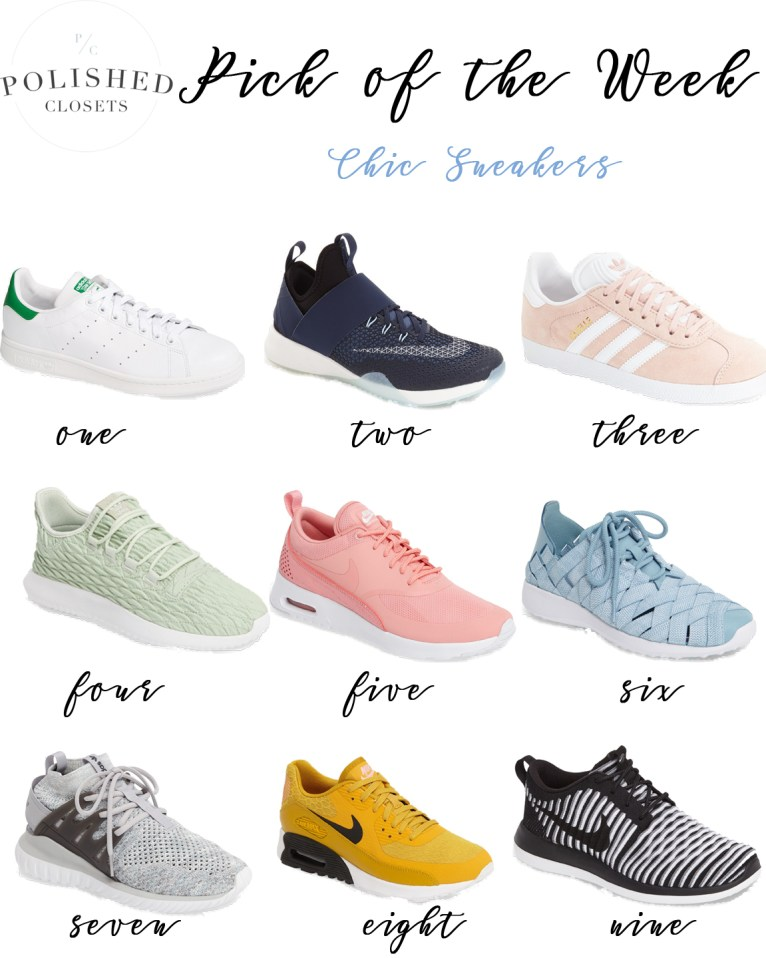 Pick of the Week: Chic Sneakers by fashion blogger Maggie of Polished Closets